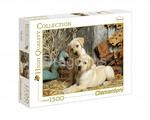 Clementoni: Puzzle 1500 HQ Hunting Dogs