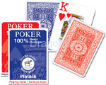 Piatnik karty do gry - 1 talia - Poker 100% plastik Jumbo Index, 1361