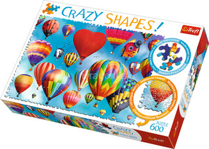 Puzzle Trefl - Crazy Shapes Kolorowe balony - 600 el.